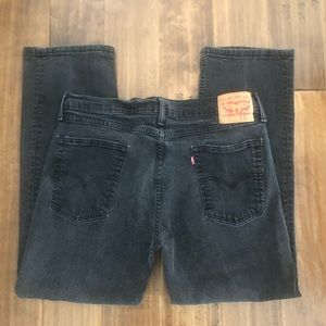 MENS 36x28 LEVIS 514 stretch BLACK denim JEANS